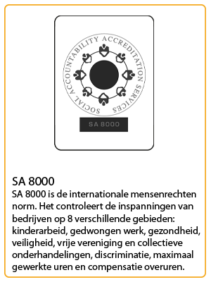 neutral certificaat sa 8000